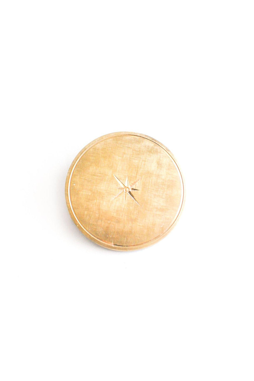 Round Star Brooch