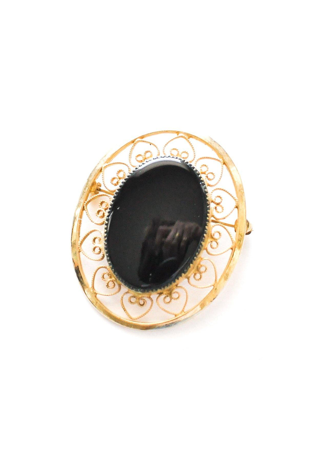 Oval Onyx Brooch