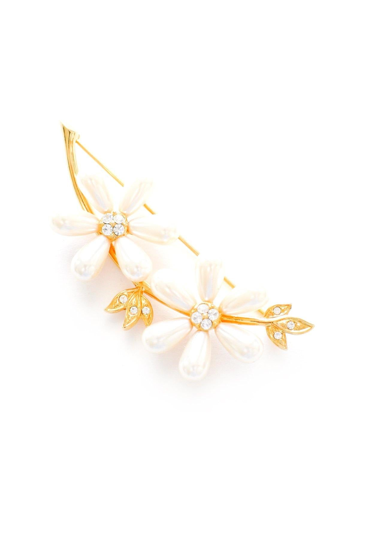 Pearl Floral Branches Brooch