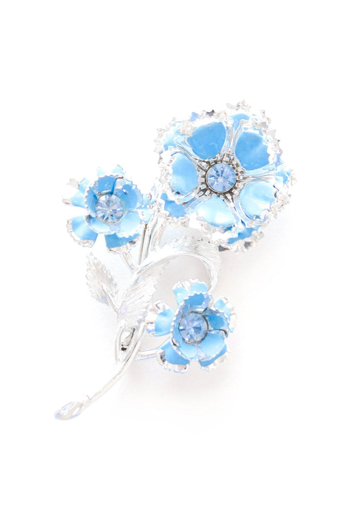 Blue Floral Bouquet Brooch