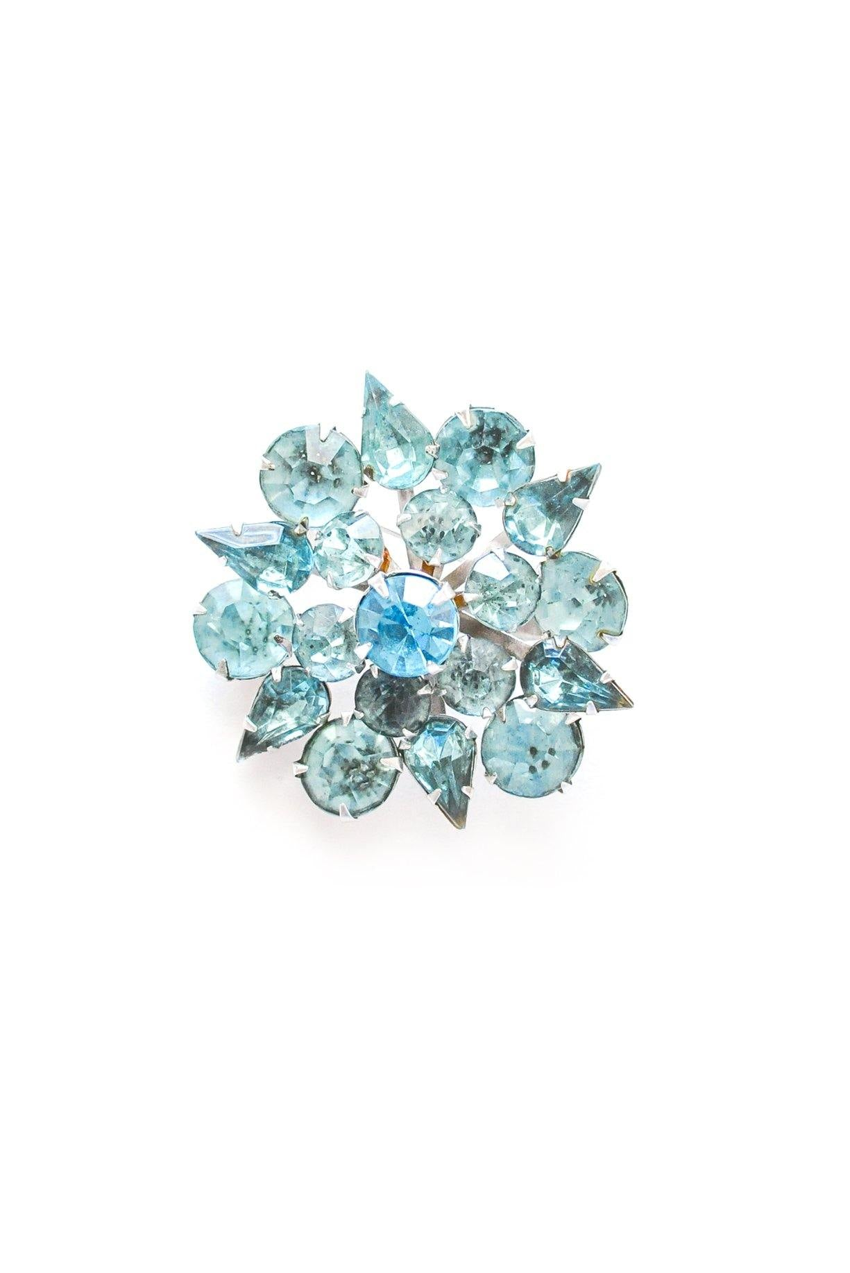 Rhinestone Star Burst Brooch