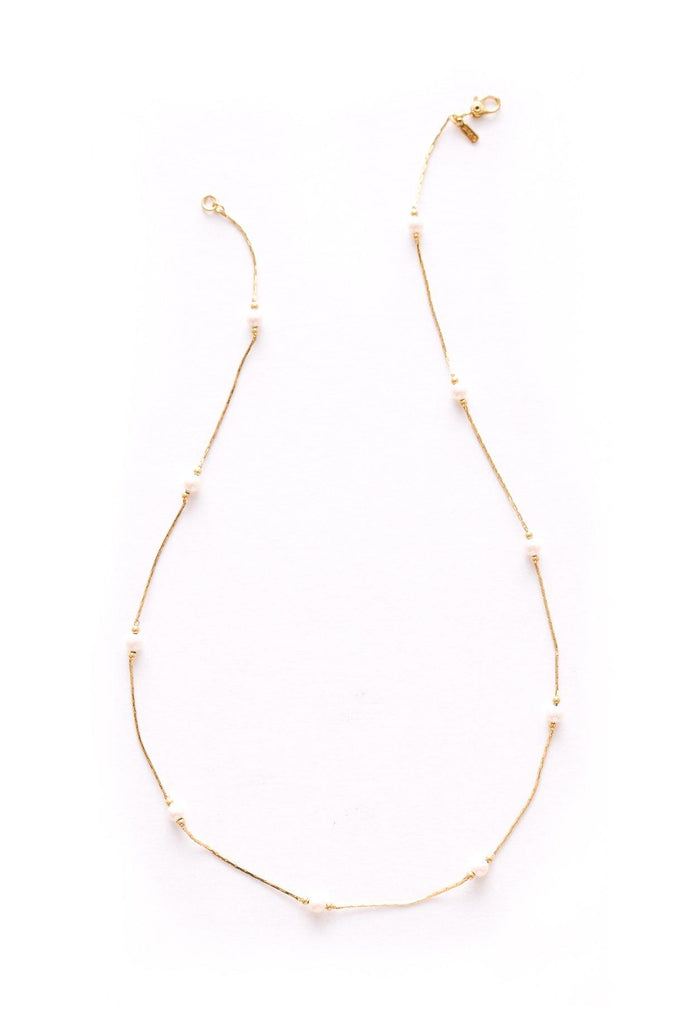 Dainty Pearl Chain Necklace