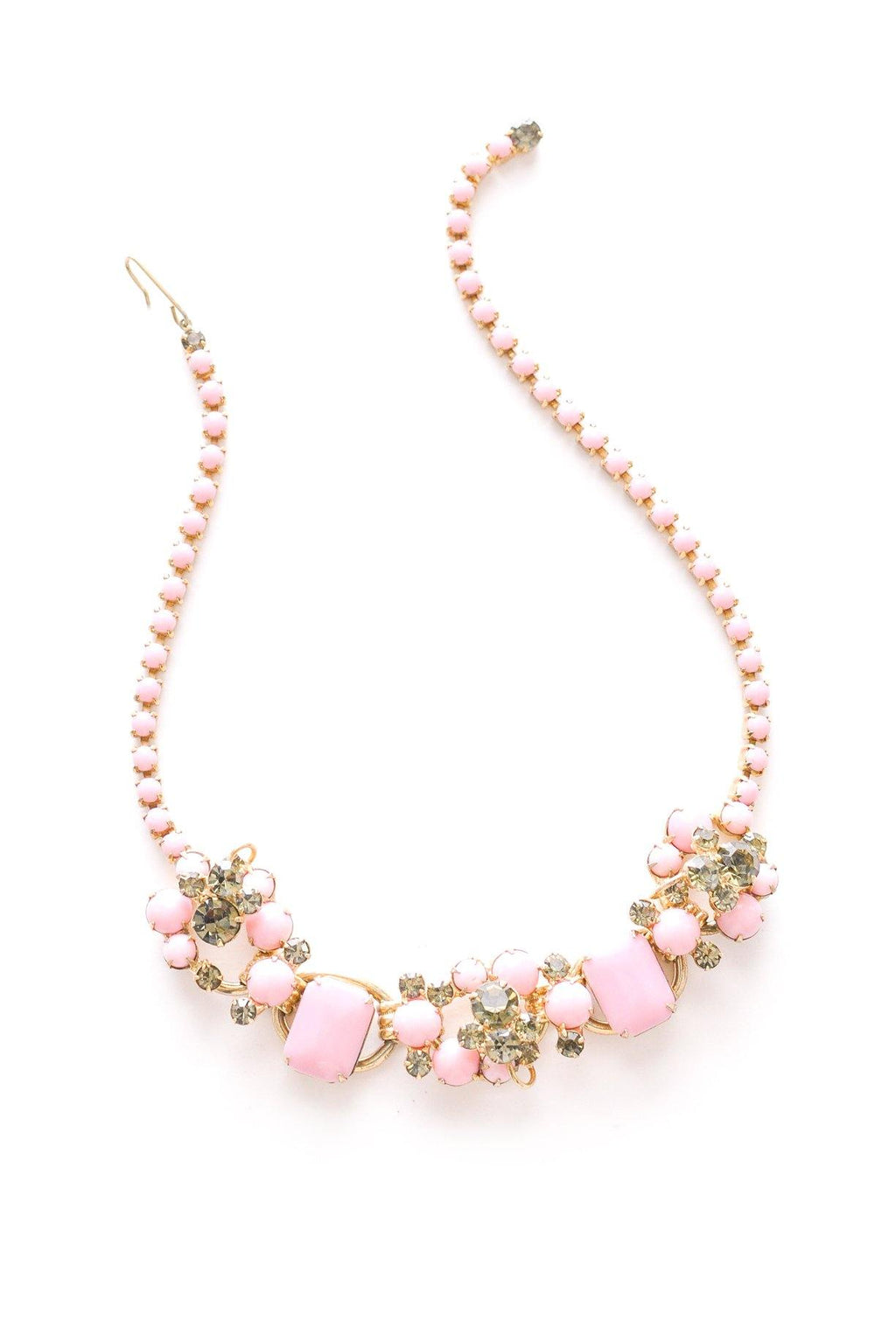 Pink Rhinestone Statement Necklace