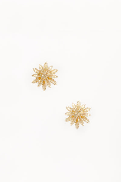 60's__Avon__Gold Flower Burst Clips