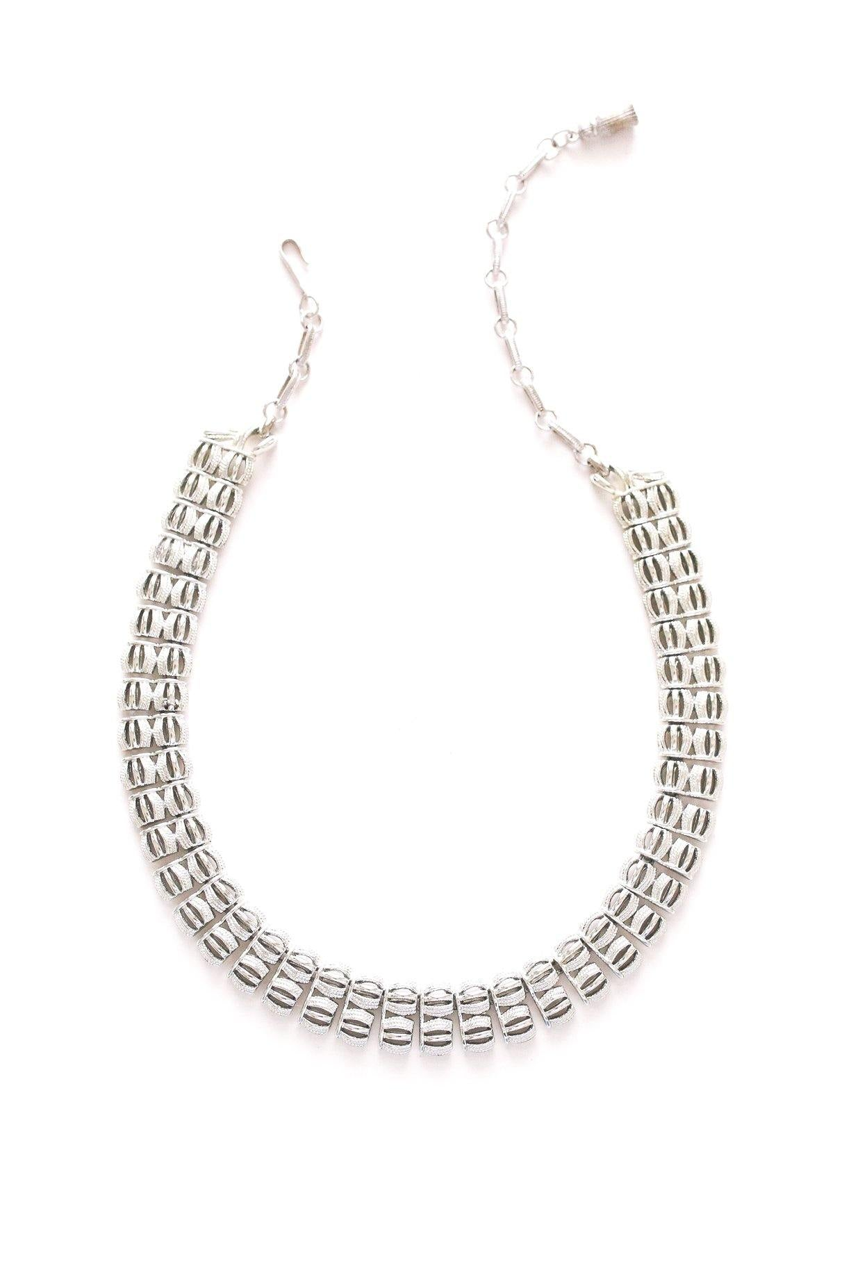Silver Cushioned Necklace