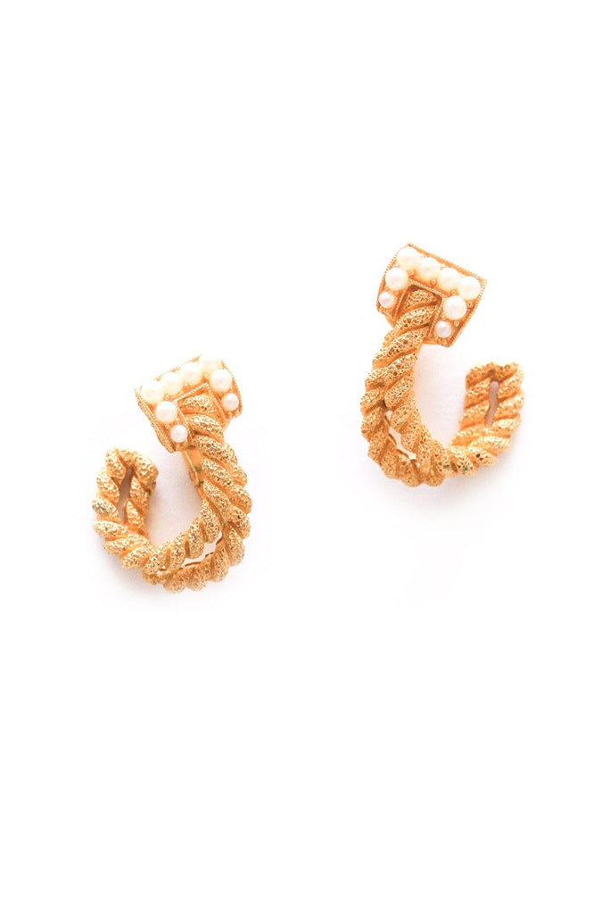 Pearl Rope Clip-on Earrings