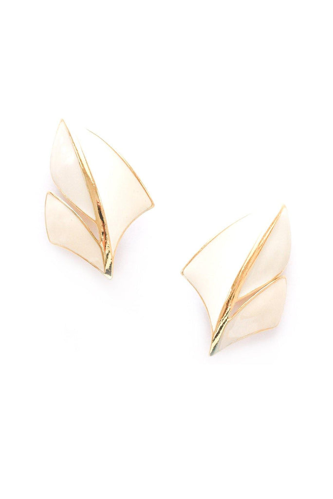 Statement Shield Clip-on Earrings