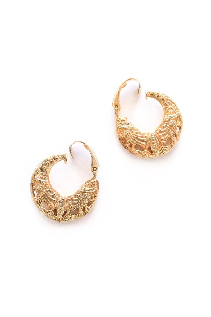 Egyptian Hoop Clip-on Earrings