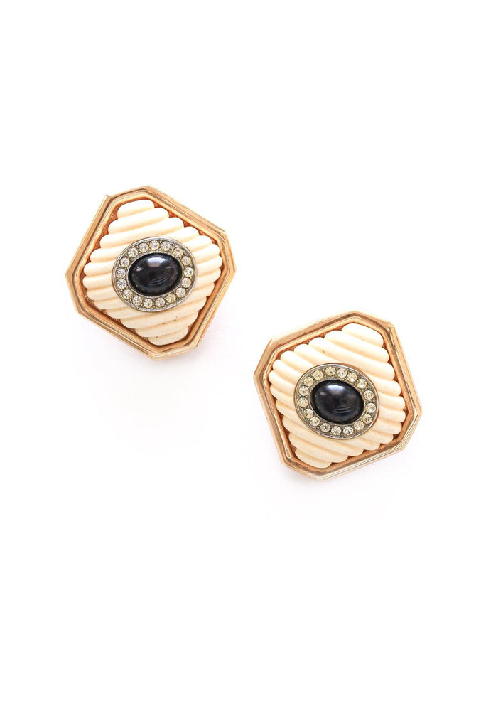 Cushion Clip-on Earrings