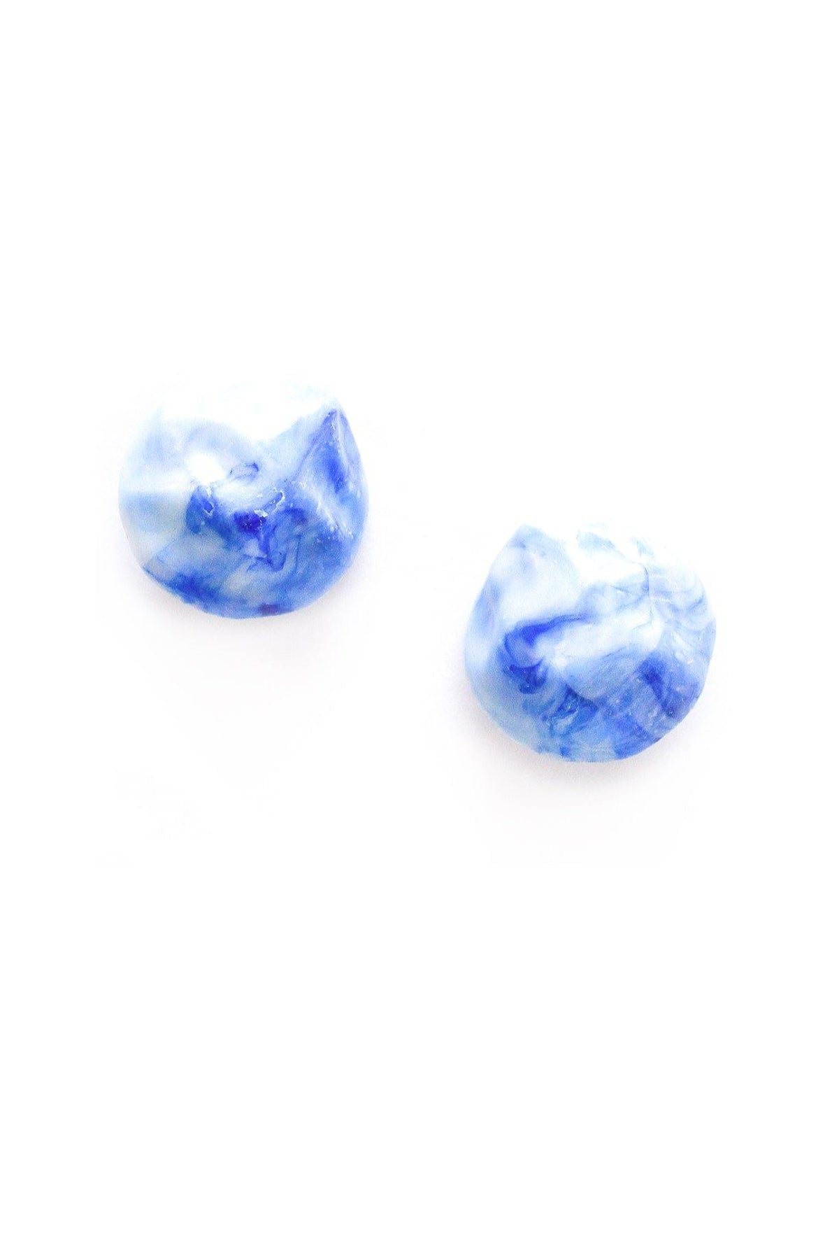 Vintage blue marbled statement earrings from Sweet & Spark.