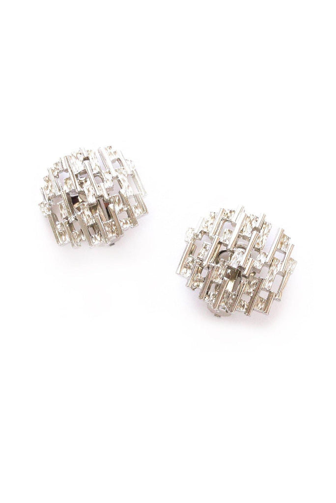 Hatched Clip-on Earrings