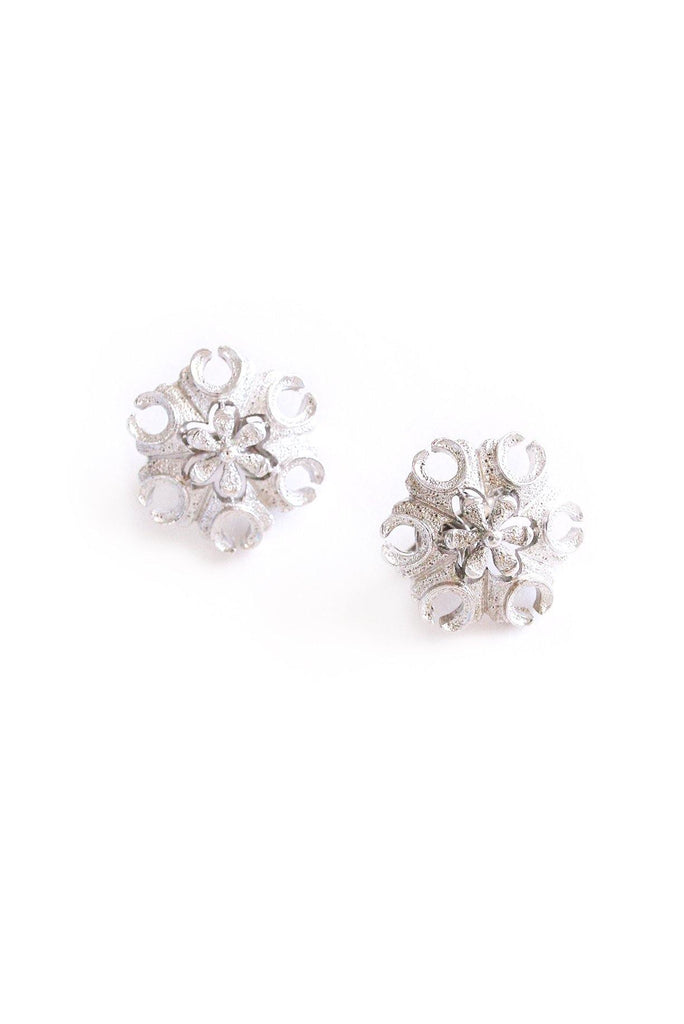 Floral Swirl Clip-on Earrings