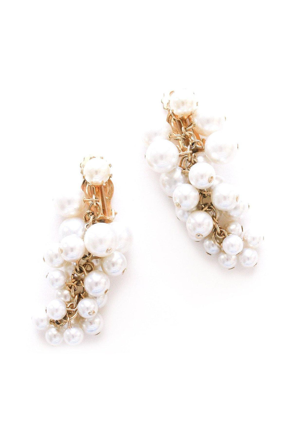 Pearl Bunches Clip-on Earrings
