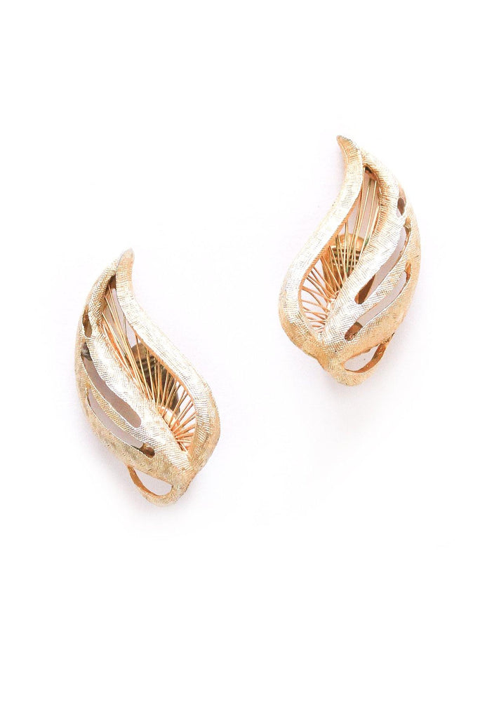 Fanned Crawler Clip-on Earrings