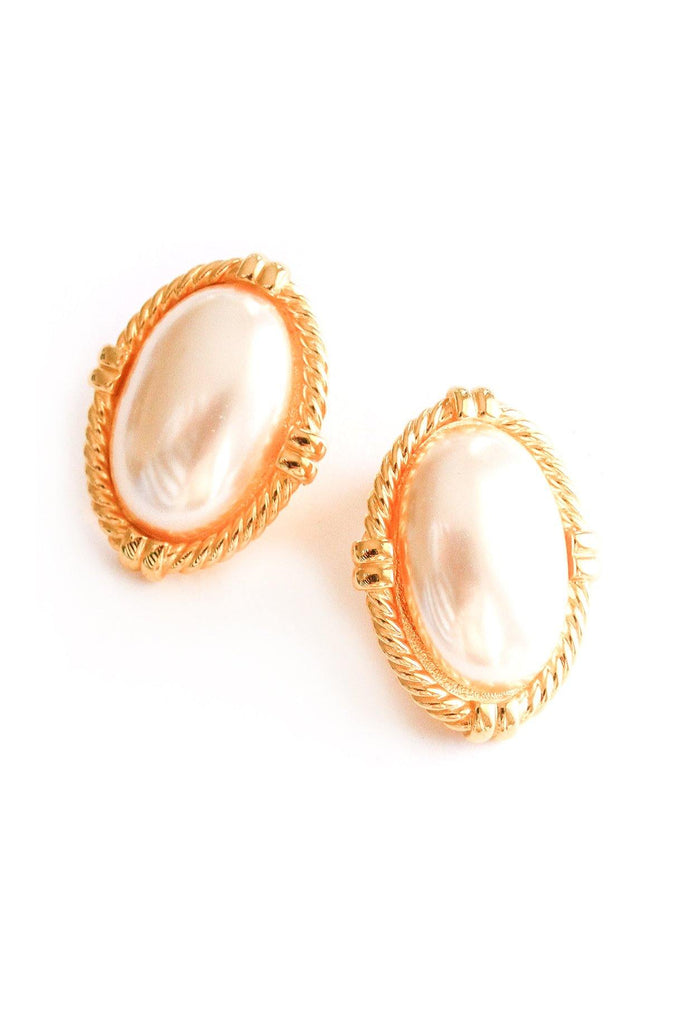 Statement Pearl Clip-on Earrings