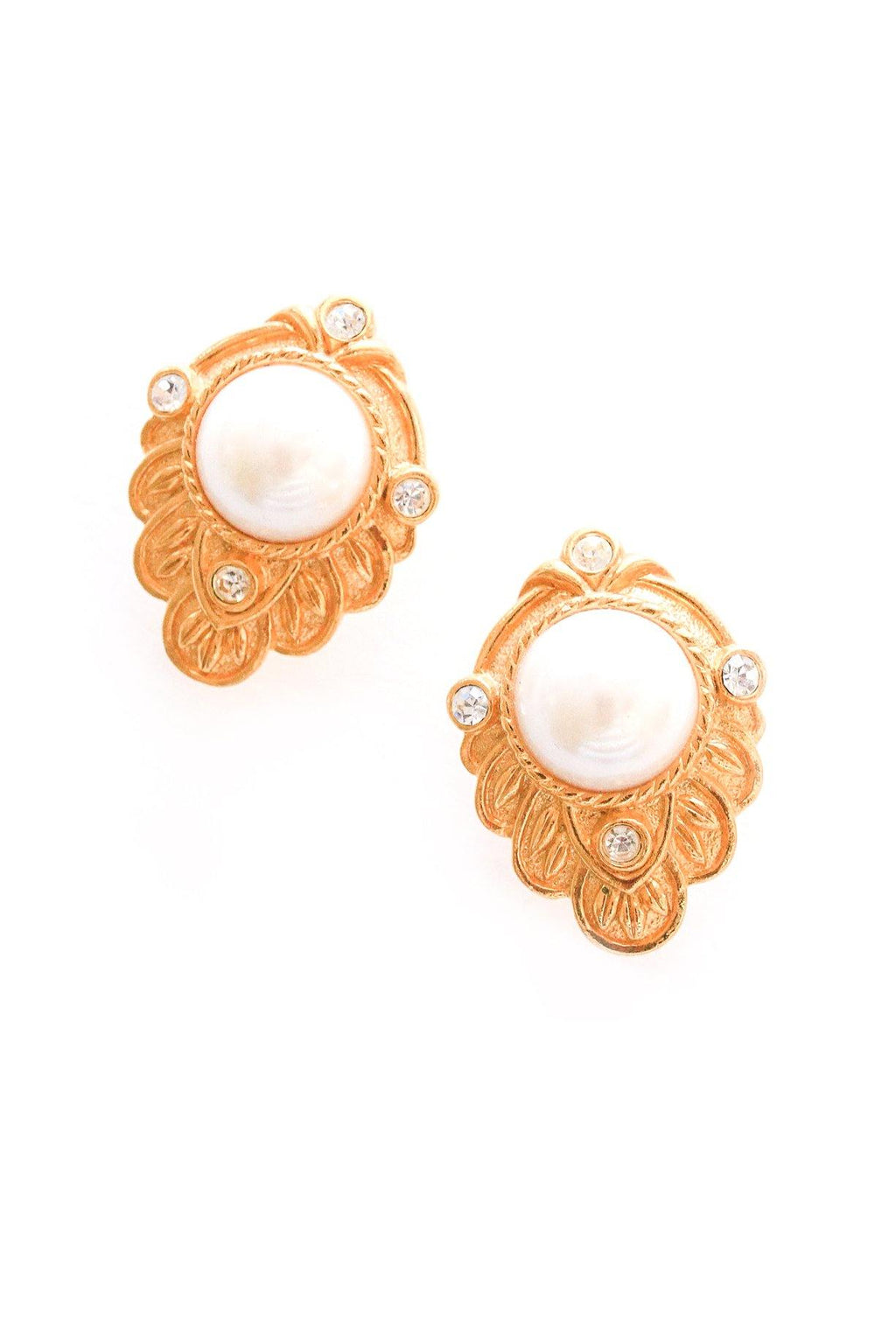 Pearl Statement Pierced Earrings