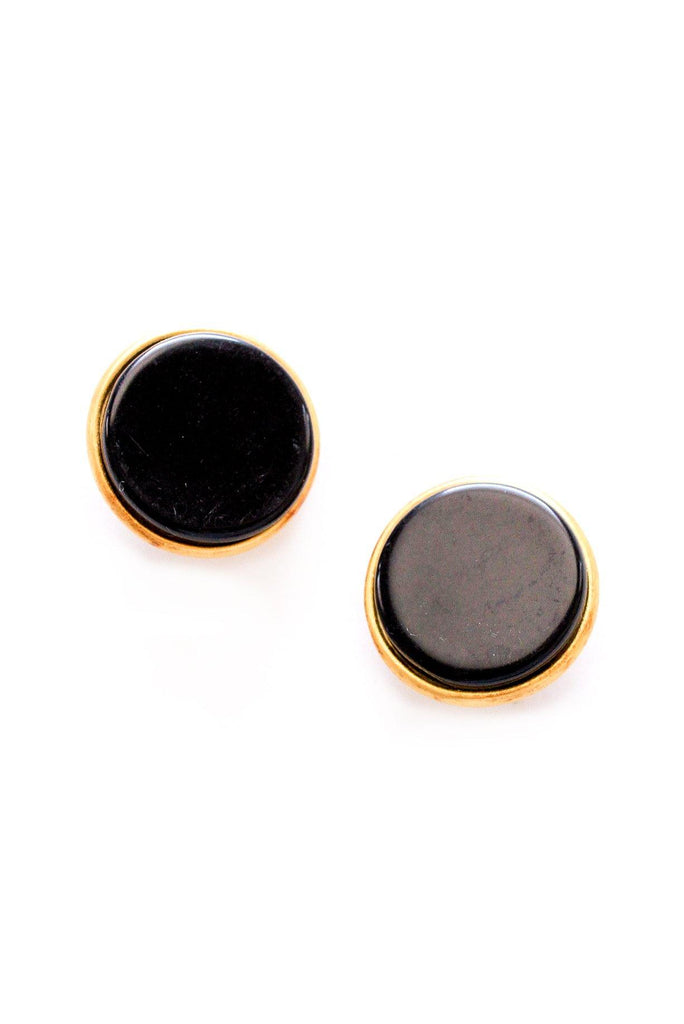 Disc Statement Clip-on Earrings
