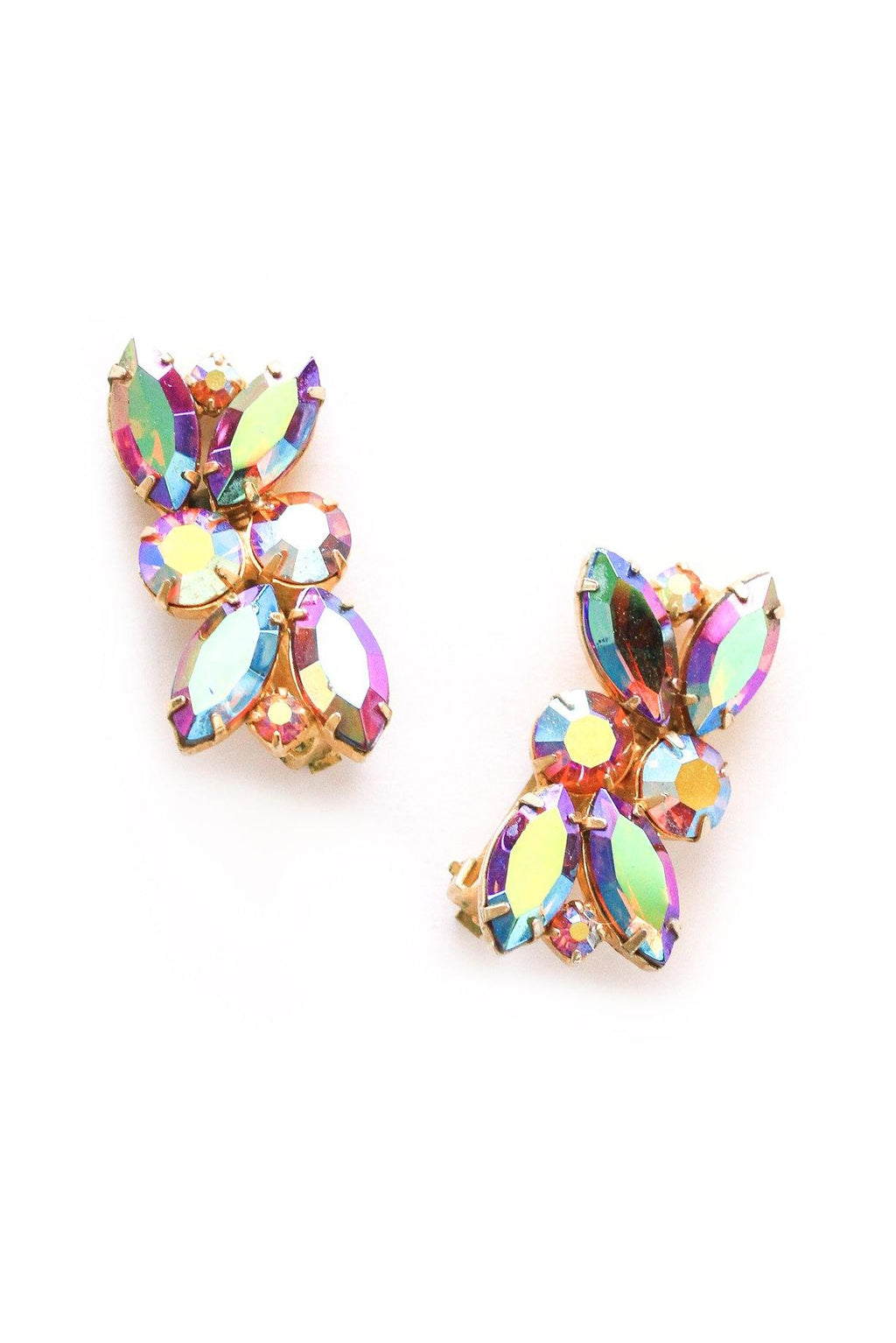 Statement Rhinestone Crawler Clip-on Earrings
