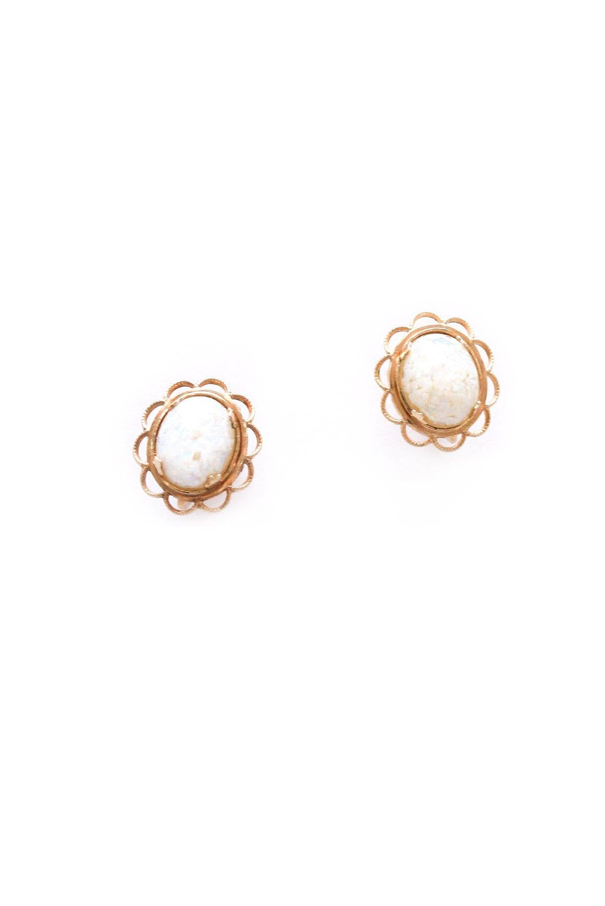 Dainty Opal Clip-on Earrings