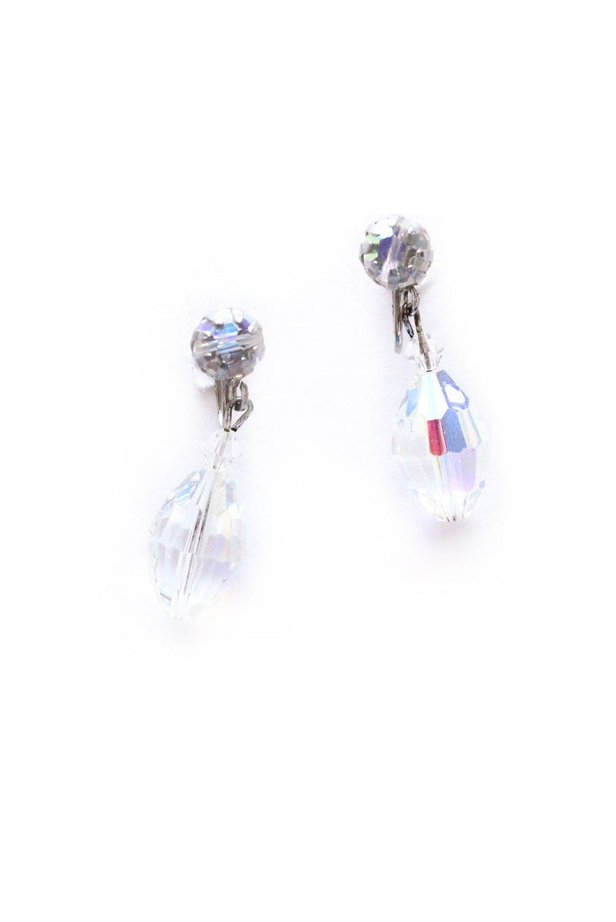Crystal Drop Clip-on Earrings