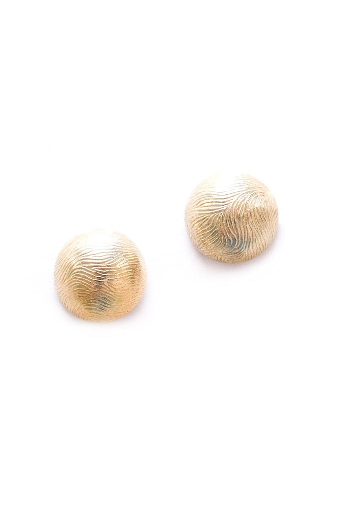 Etched Button Clip-on Earrings