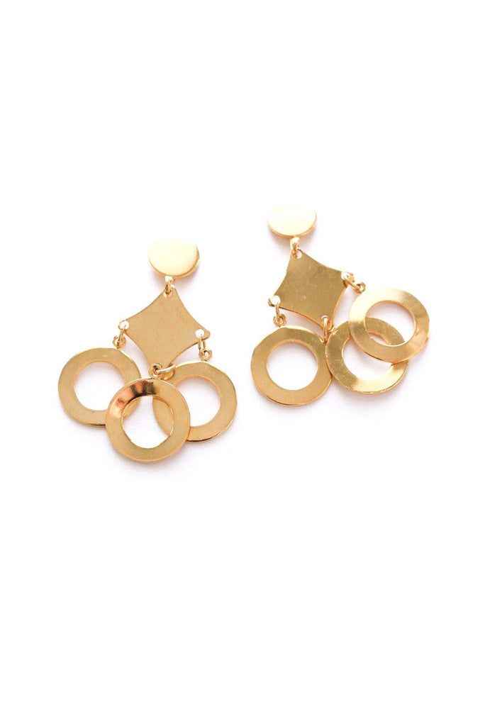 Geo Drop Clip-on Earrings