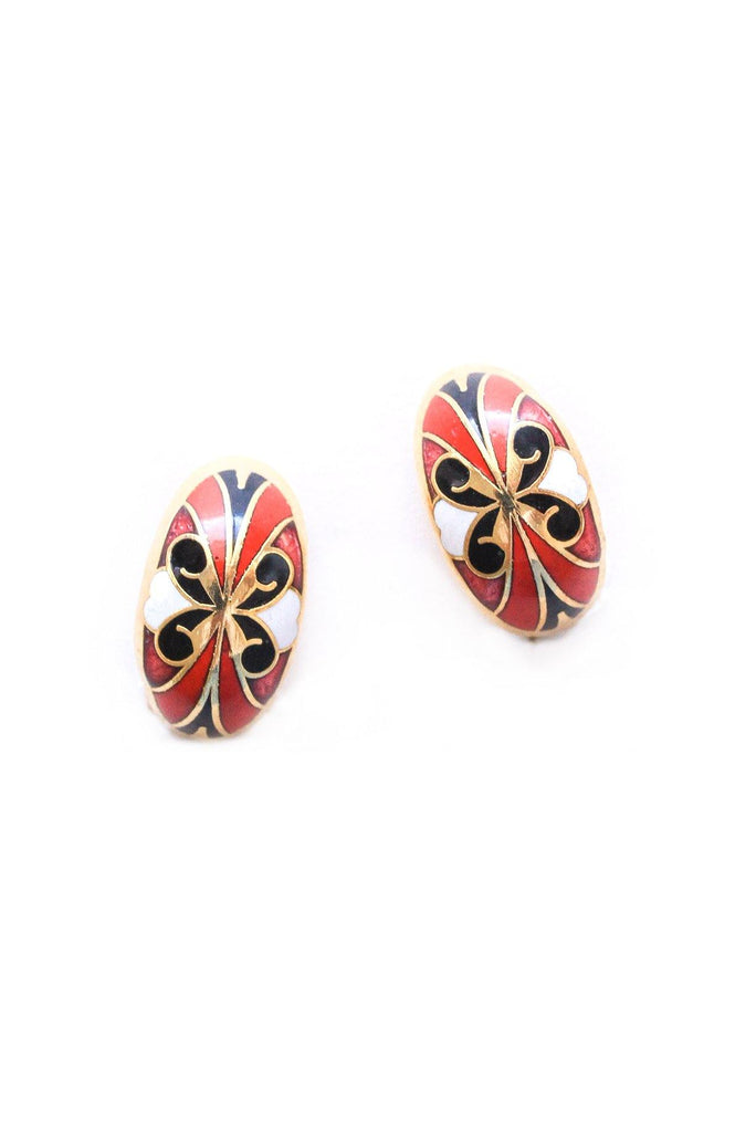 Painted Butterfly Clip-on Earrings