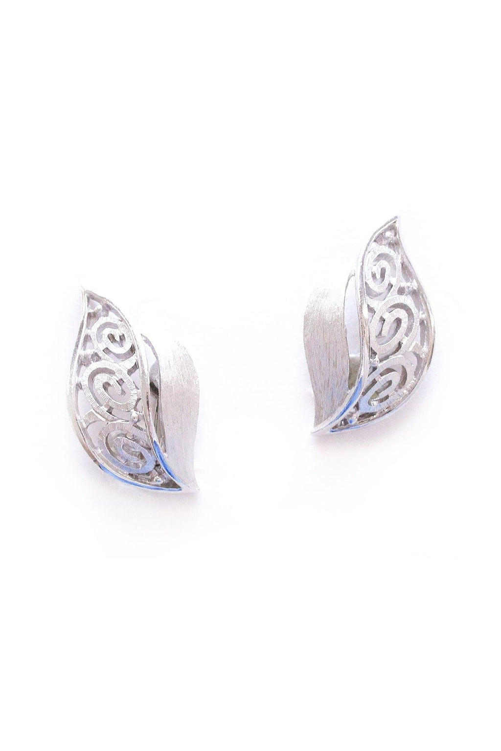 Swirl Leaf Clip-on Earrings