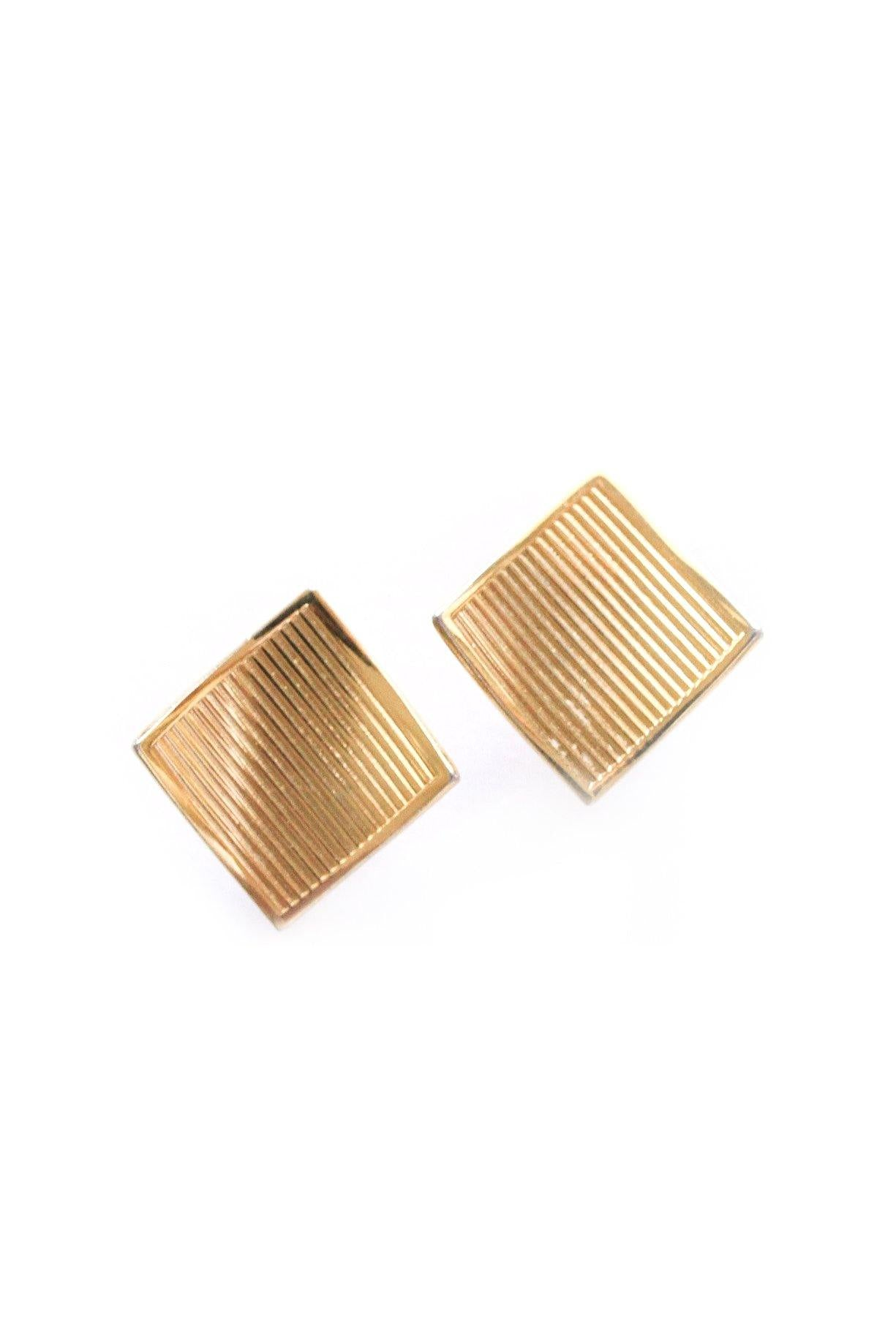 Folded Square Clip-on Earrings