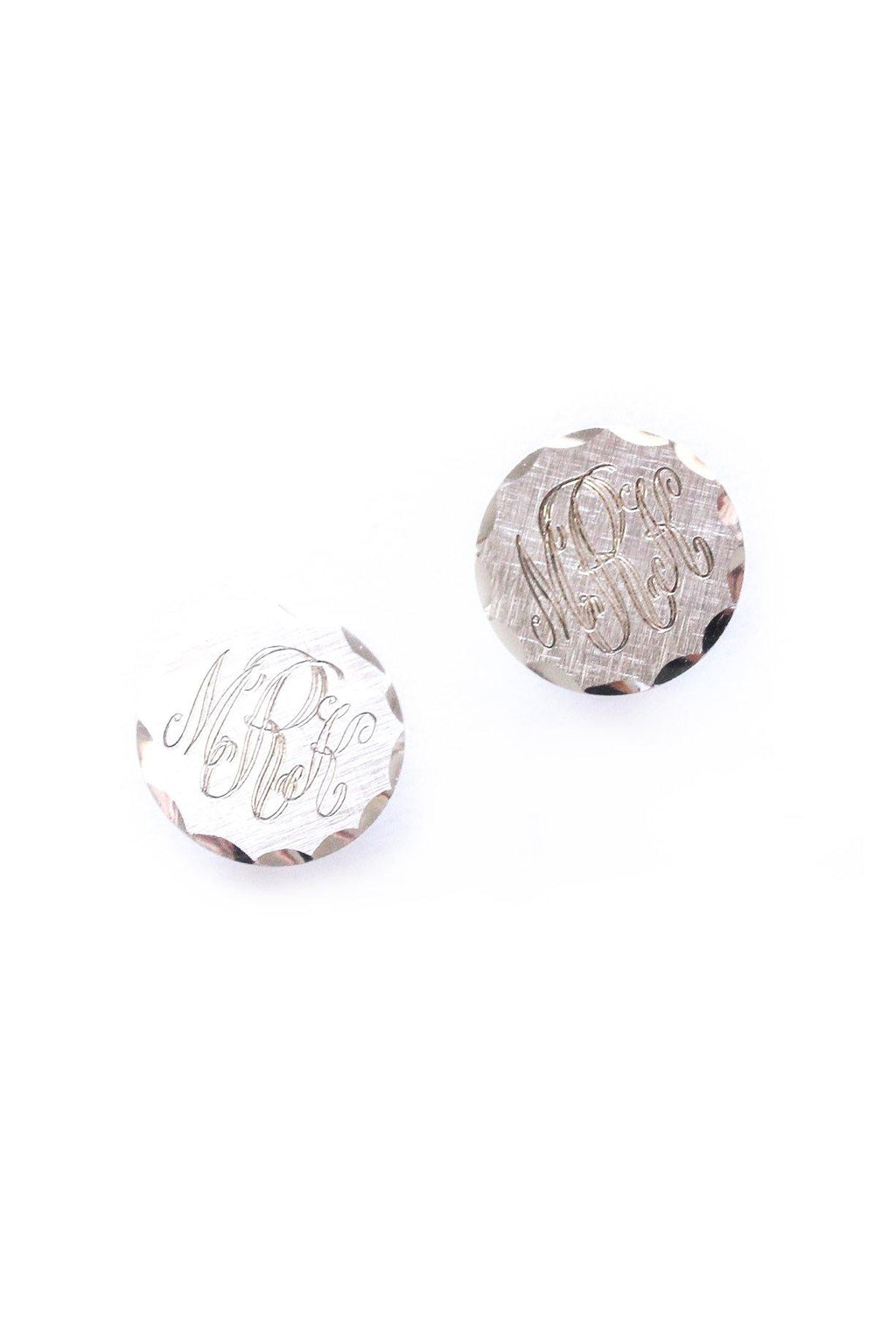 MRK Monogrammed Clip-on Earrings
