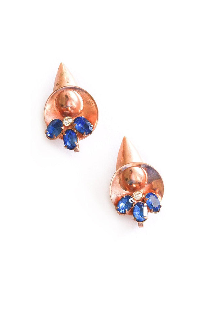 Rose Gold Cone Clip-on Earrings