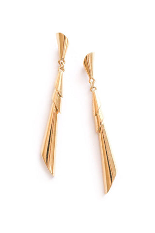 Simple Drop Pierced Earrings
