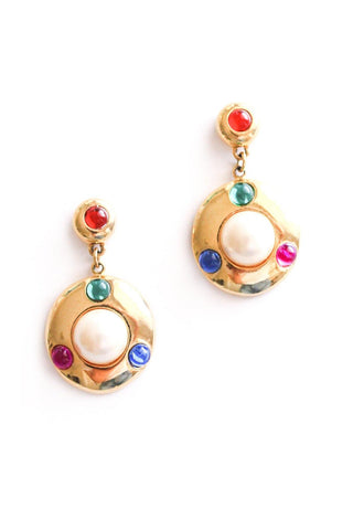 Pearl Gem Pierced Earrings