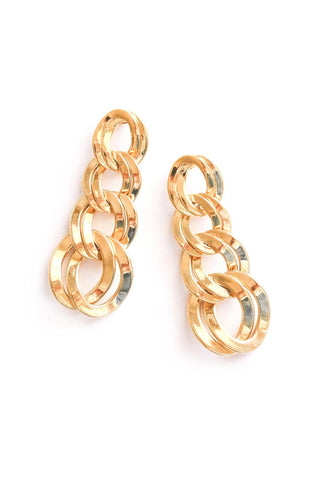 Chain Link Drop Pierced Earrings