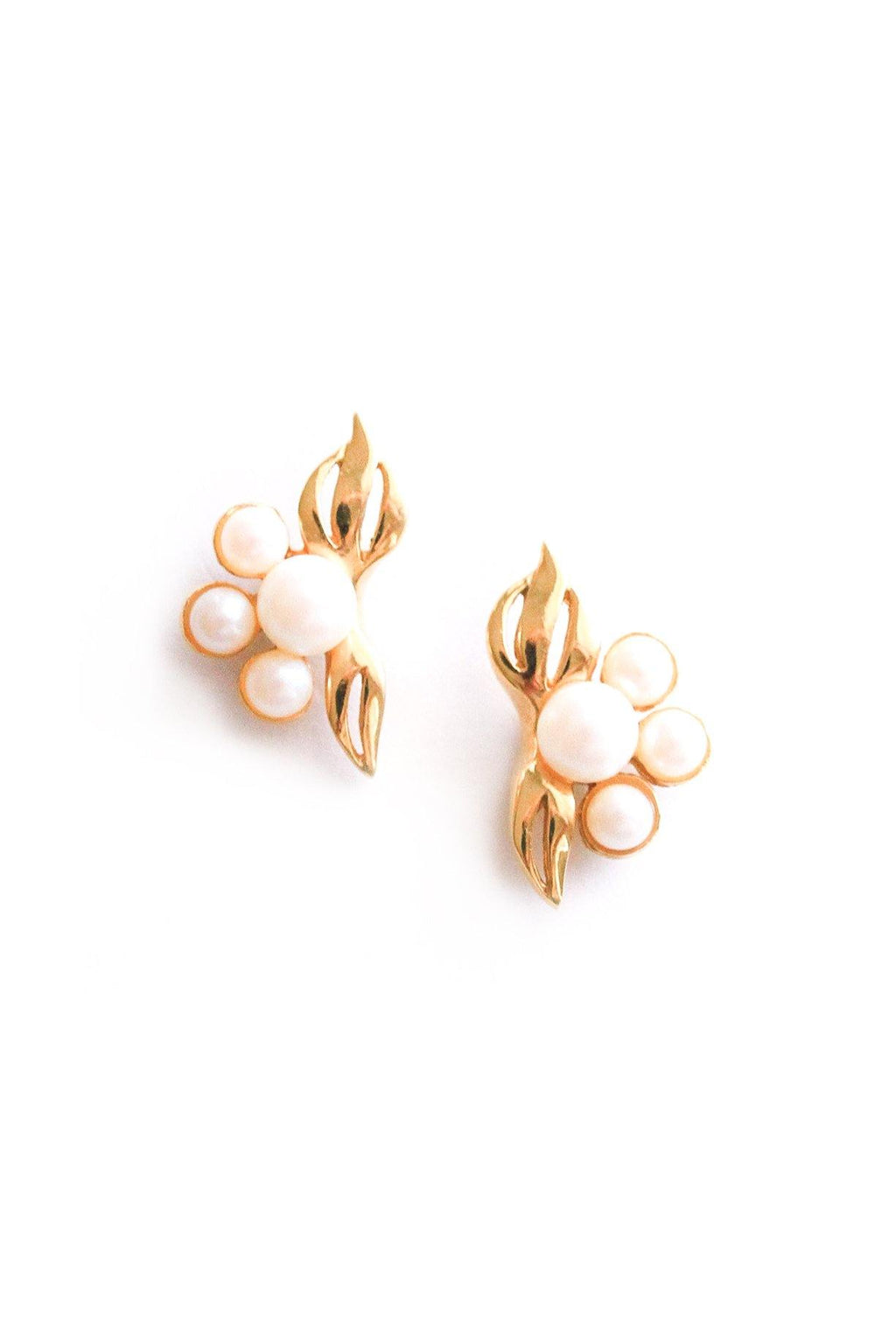 Dainty Pearl Pierced Earrings
