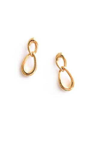 Simple Chain Link Drop Pierced Earrings
