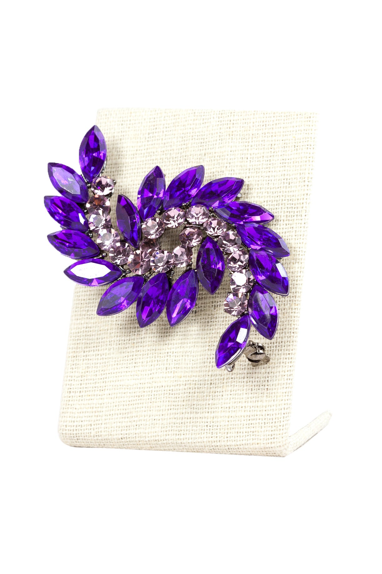 50's__Vintage__Purple Rhinestone Statement Brooch