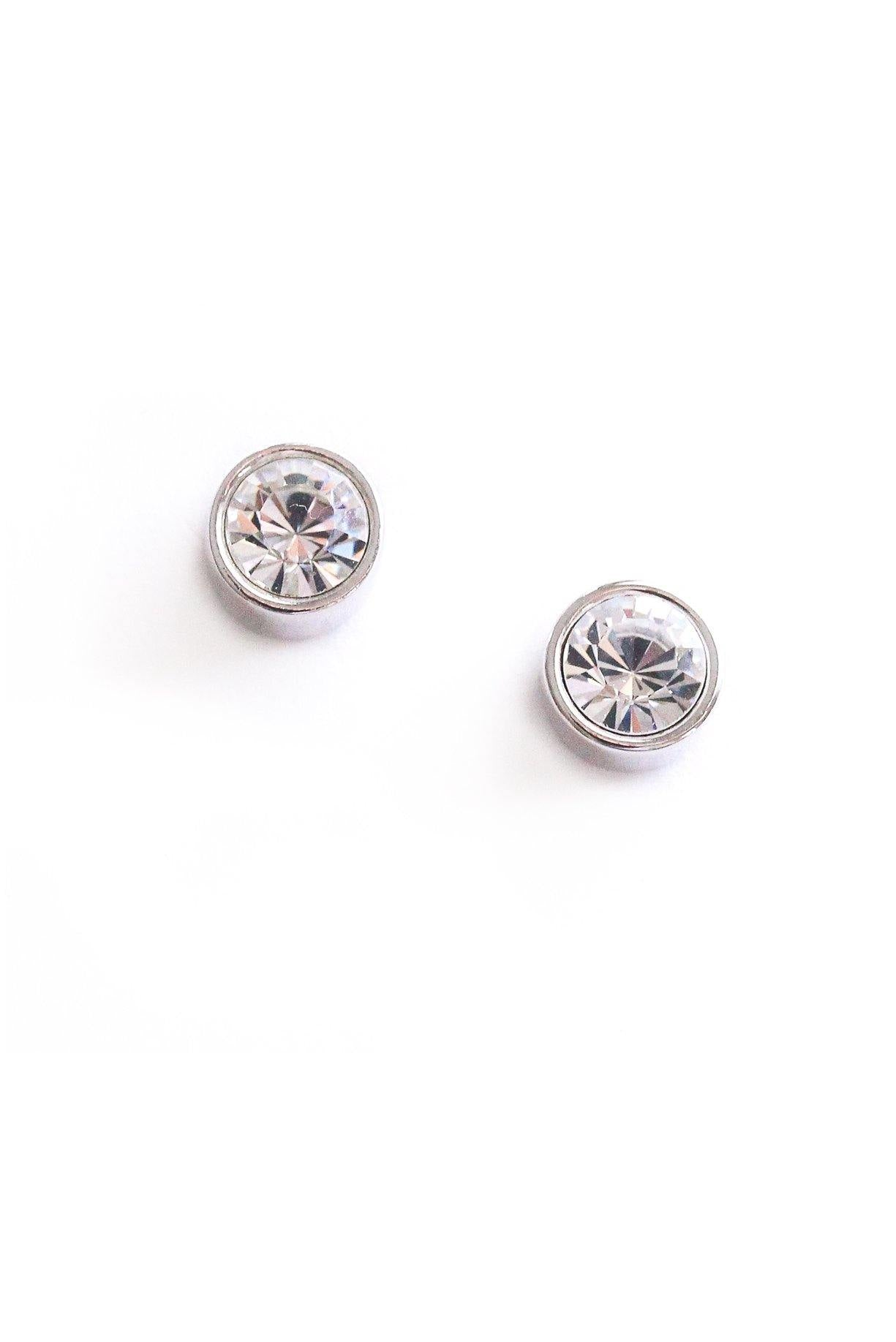 Classic Crystal Pierced Earrings