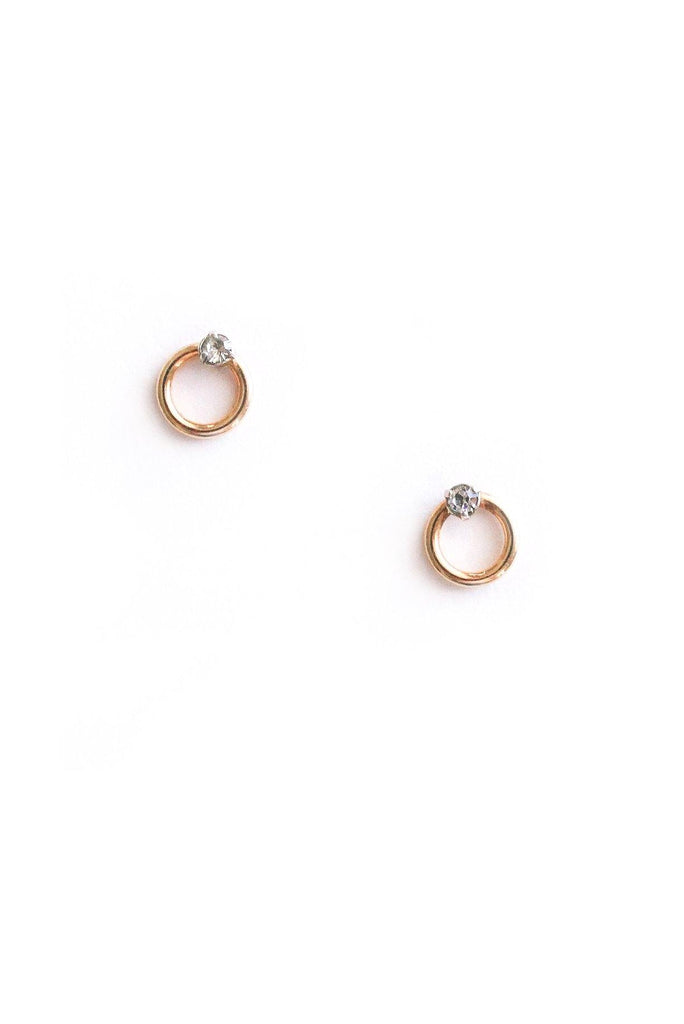 Mini Ring Pierced Earrings