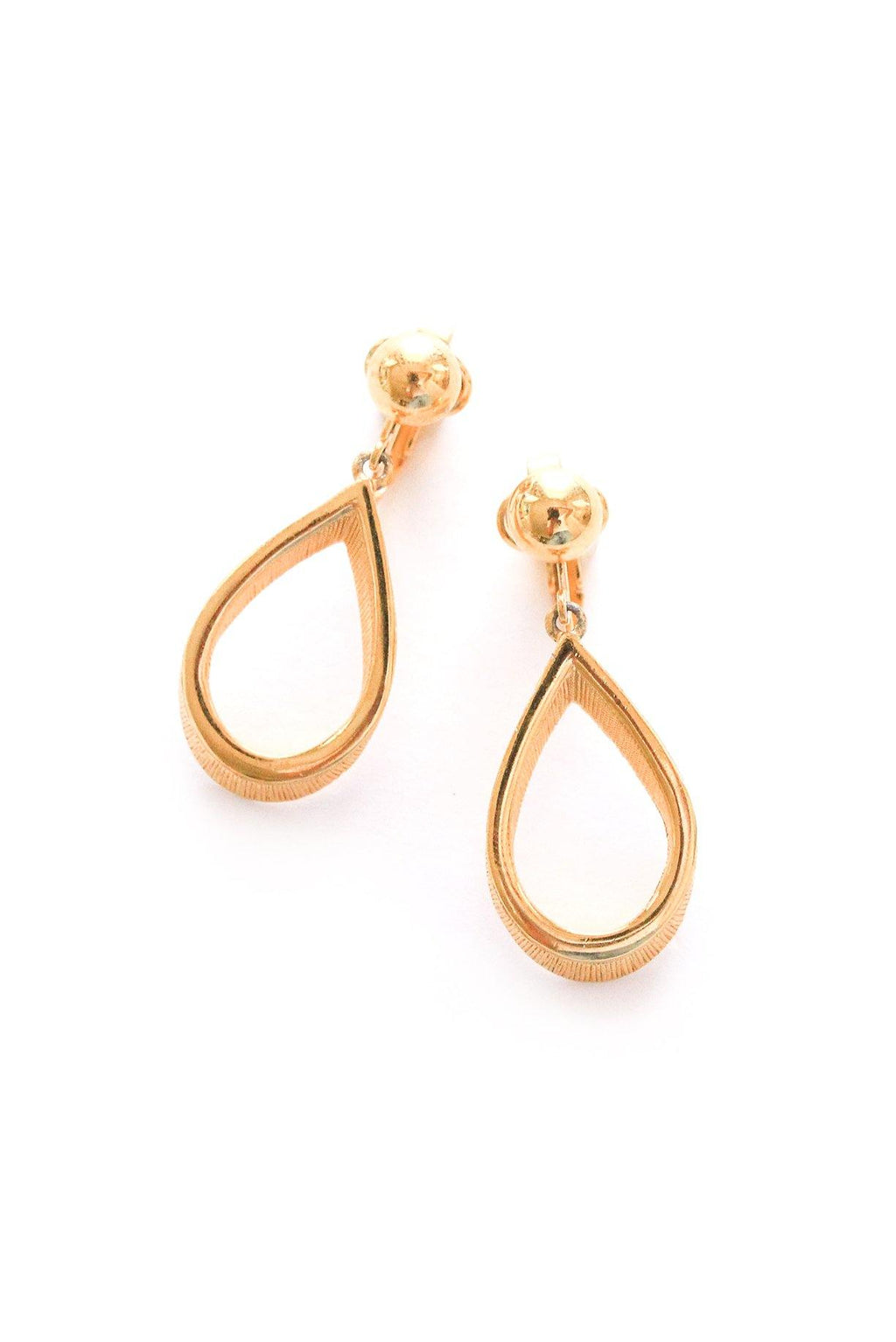 Teardrop Drop Clip-on Earrings