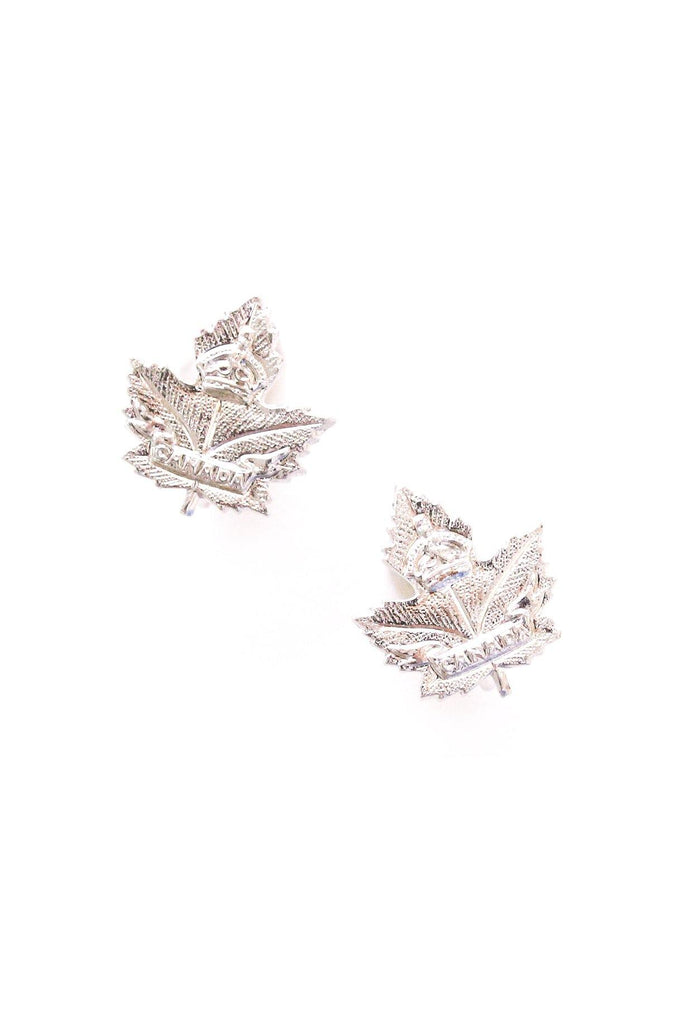 Mini Canadian Maple Leaf Clip-on Earrings
