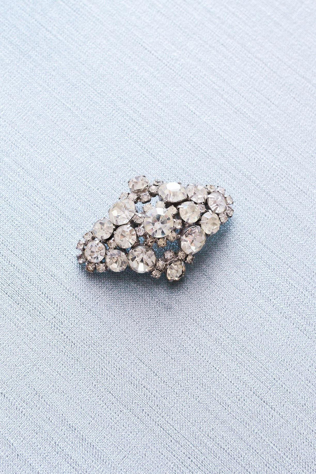 Rhinestone Statement Bar Brooch