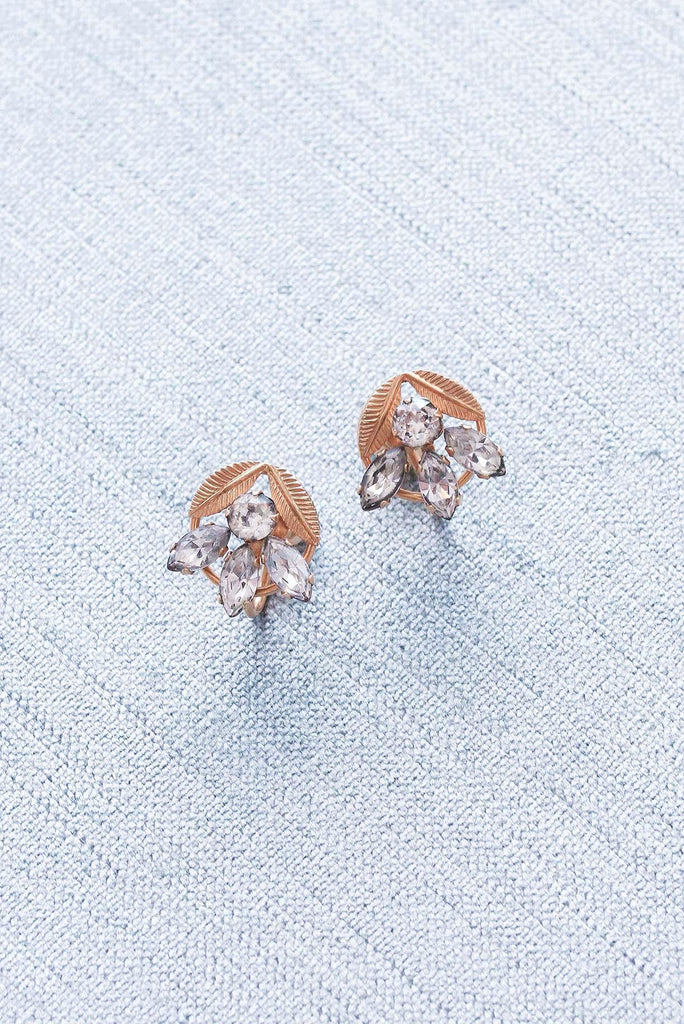 Rhinestone Disc Clip-on Earrings