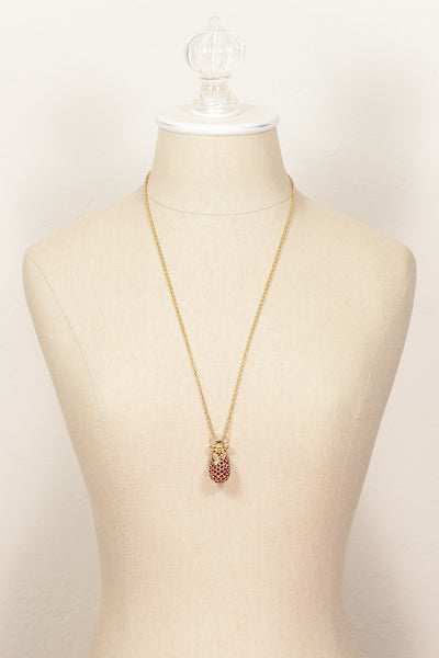 80's__Joan Rivers__Jeweled Egg Pendant Necklace