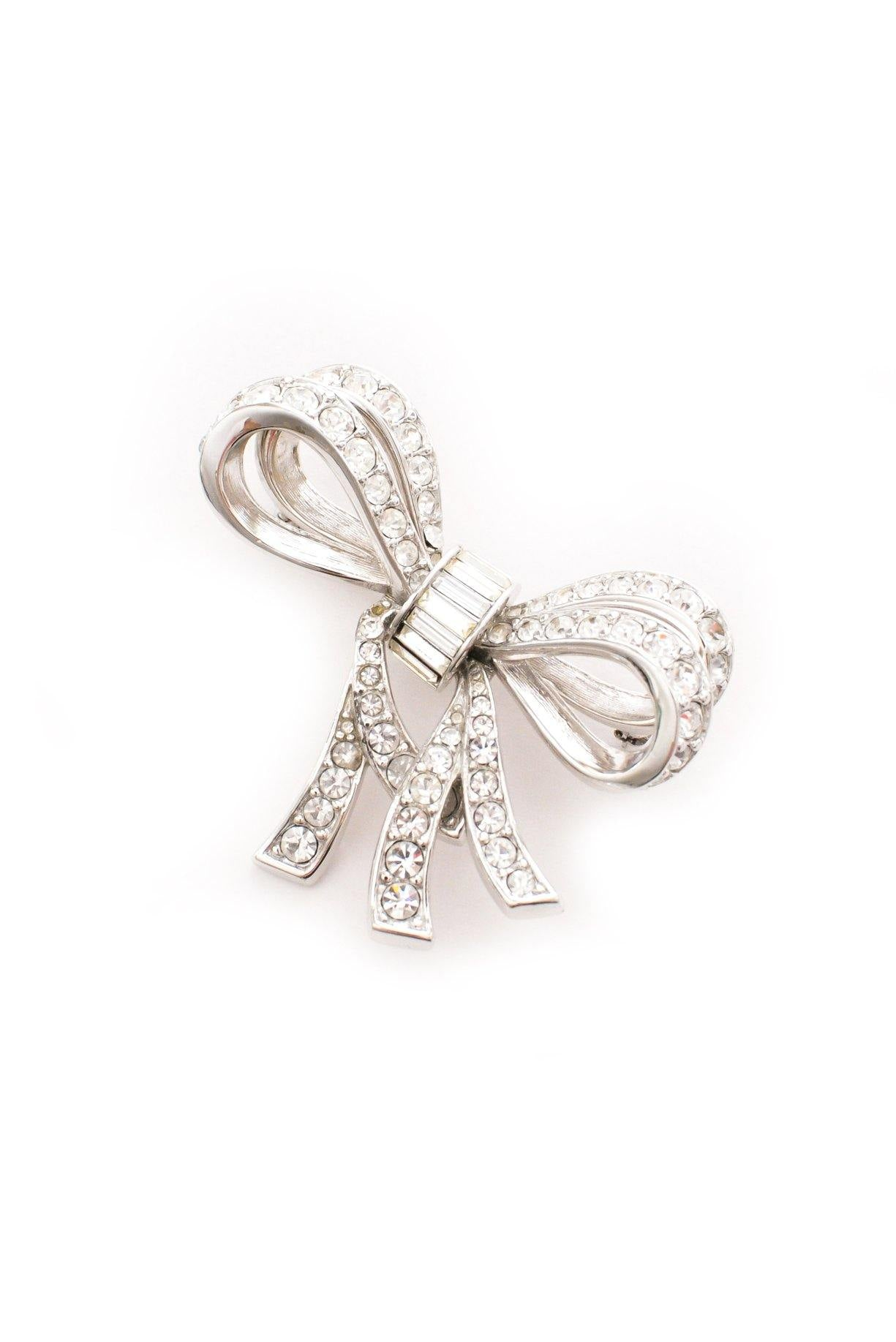 Rhinestone bow brooch from Sweet & Spark.