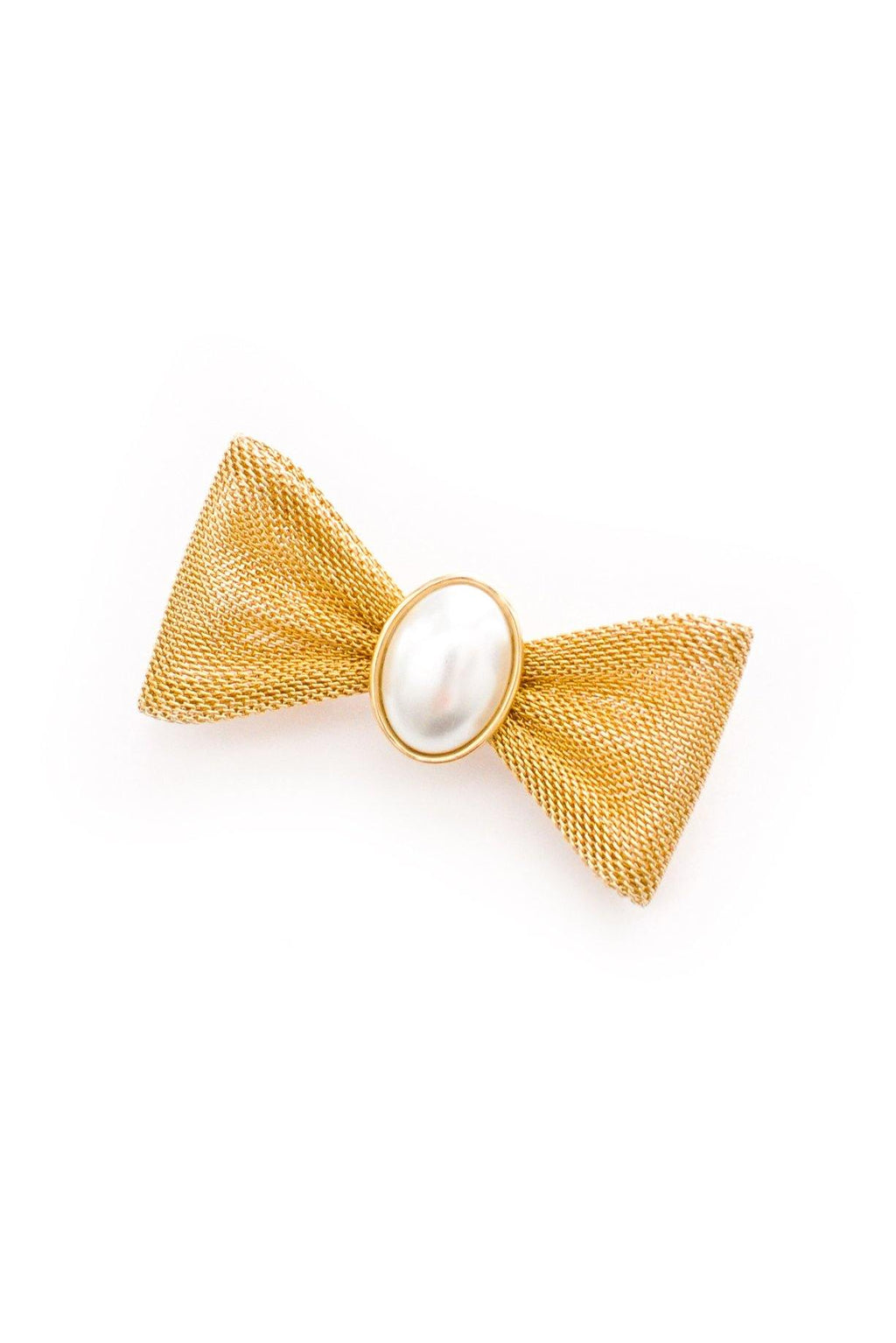 Pearl Bow Brooch