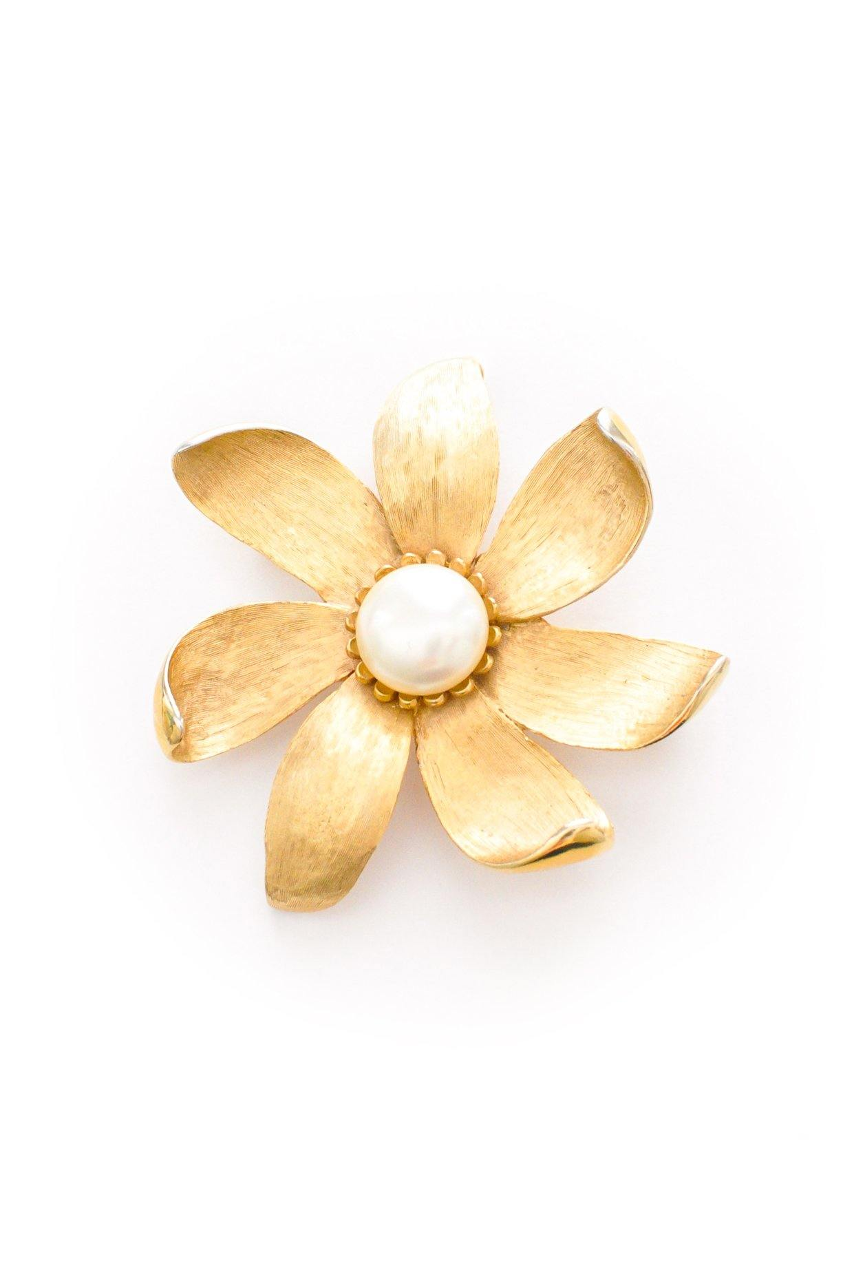 Pearl Floral Brooch from Sweet & Spark.