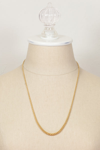 60's__Monet__Tapered Gold Chain Necklace