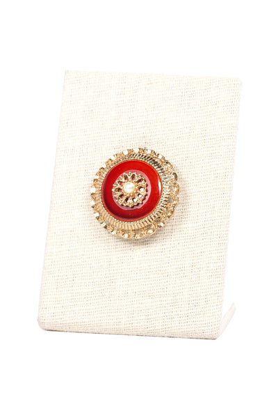 60's__Sarah Coventry__Mini Red Pearl Brooch