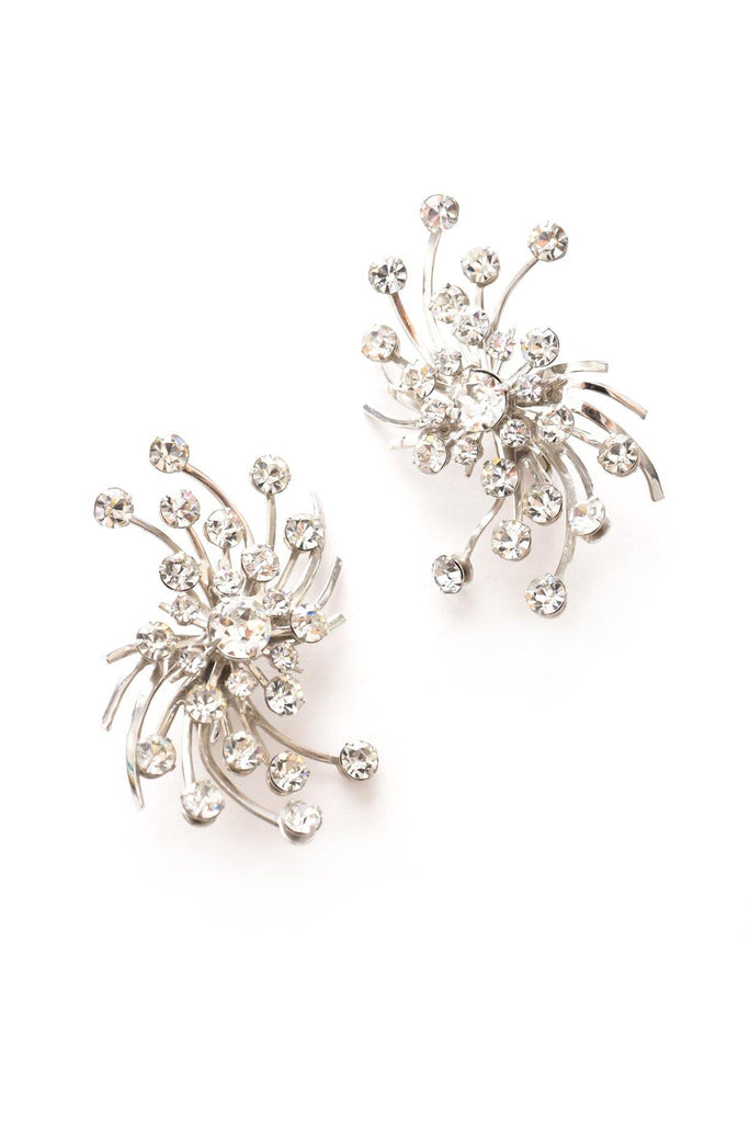 Rhinestone Fireworks Clip-on Earrings